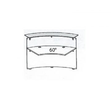 Modulo bancone ANCONA curvo 60° interno