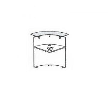 Modulo bancone ANCONA curvo 90° interno